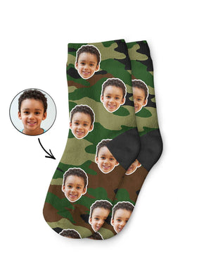Camo Face Kids Socks
