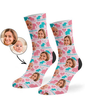 Mother's Day Elephant Socks