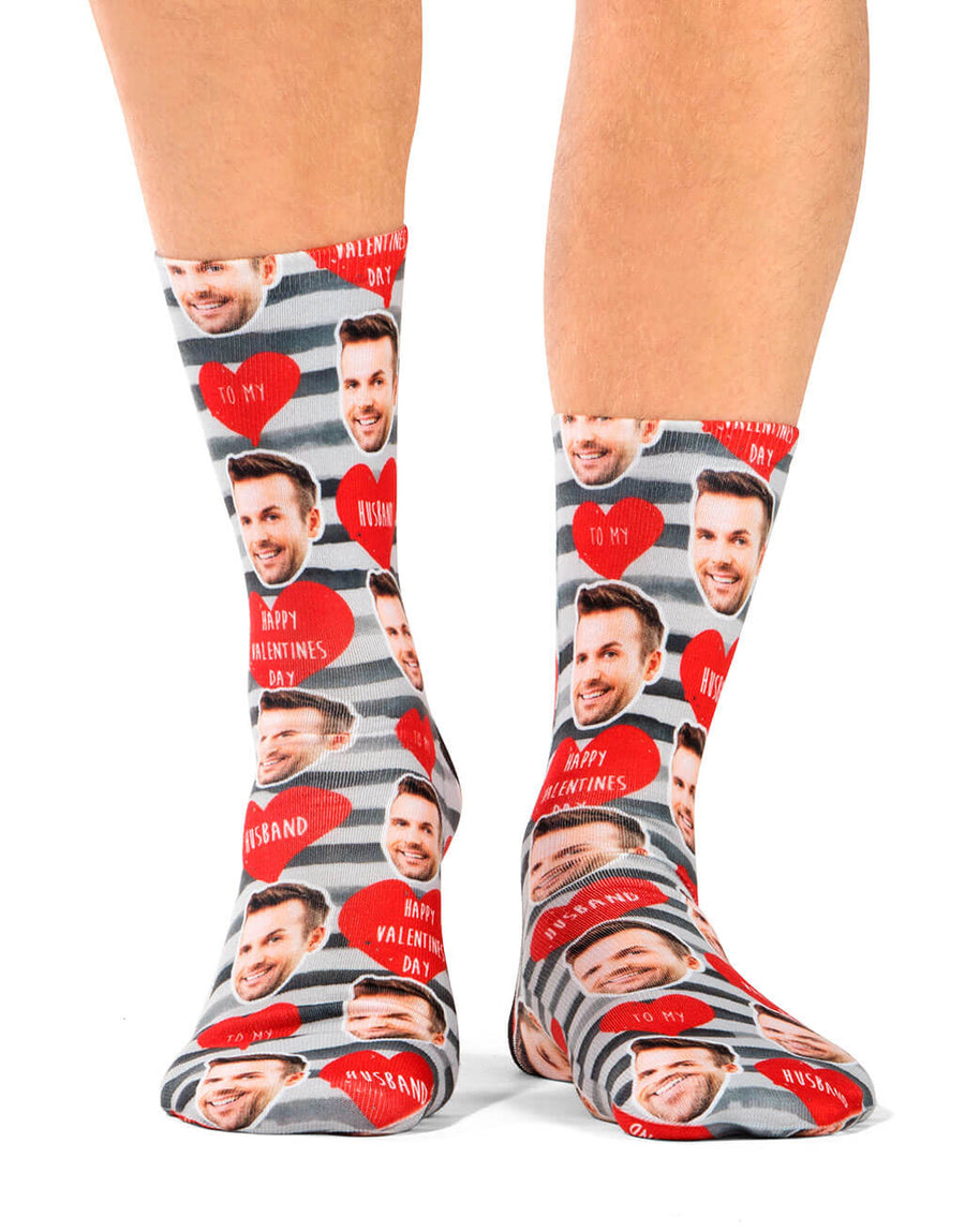 Happy Valentines Husband Socks