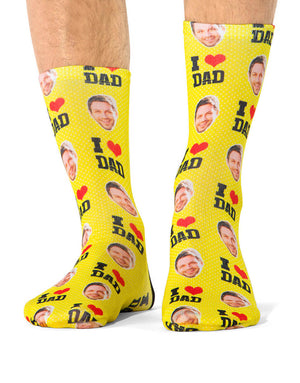 I Love Dad Socks
