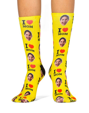 I Love Mom Socks