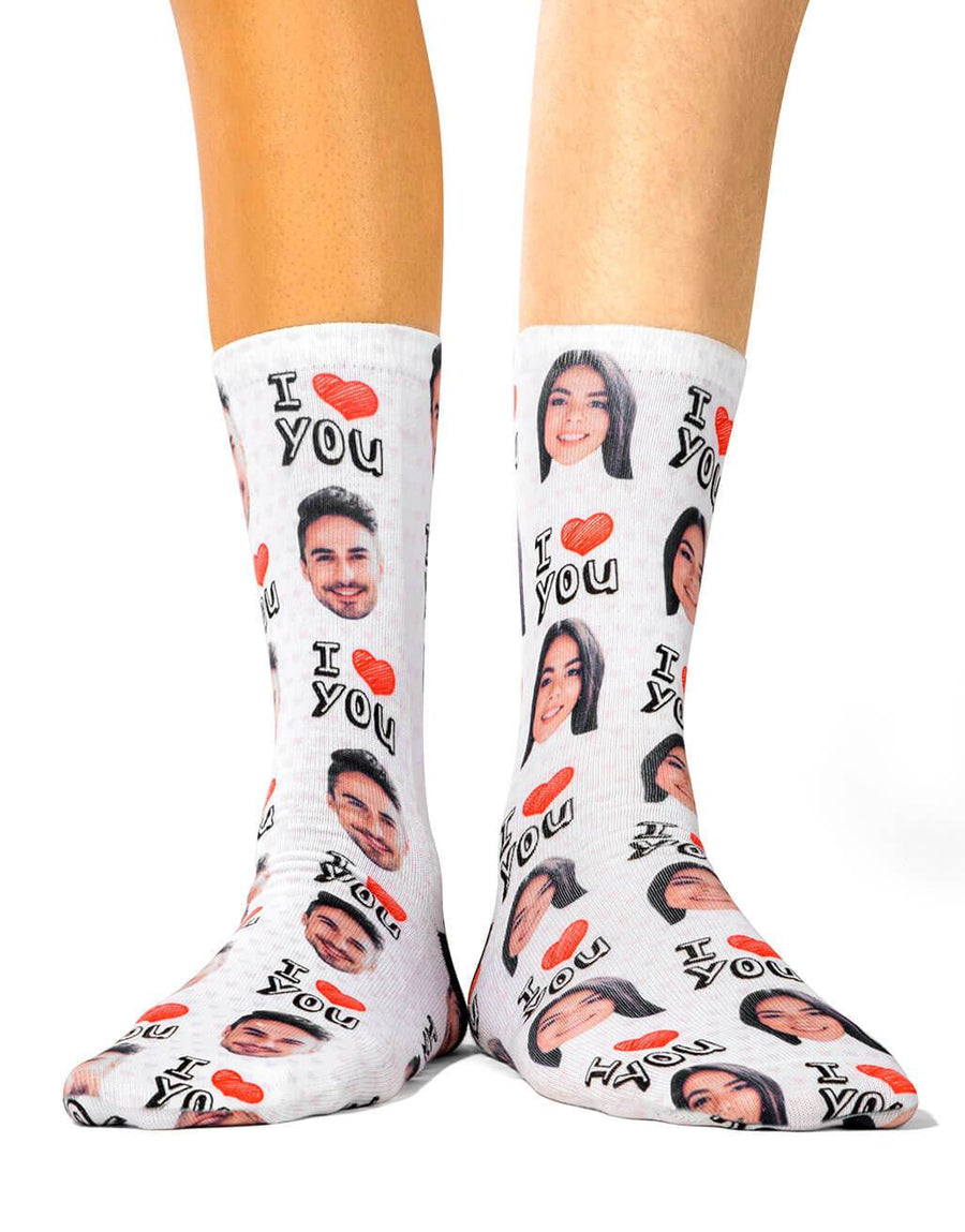 I heart you socks set