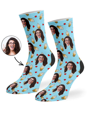 Love Ice Cream Socks