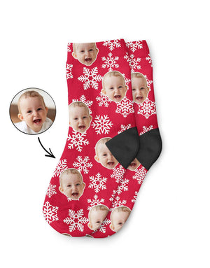 Christmas Snowflake Kids Socks