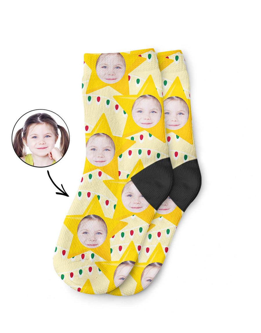 Christmas Star Kids Socks