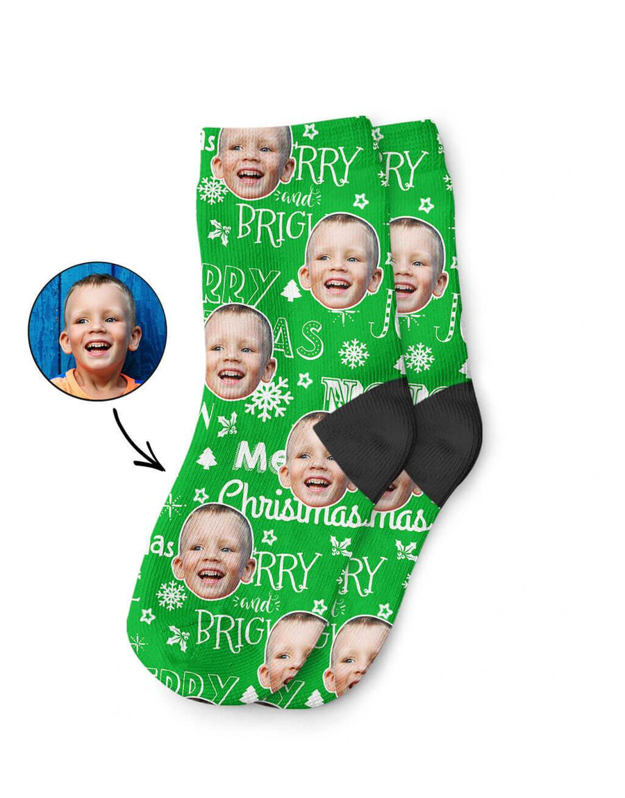 Merry Christmas Kids Socks