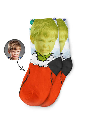 The Grinch Kids Socks