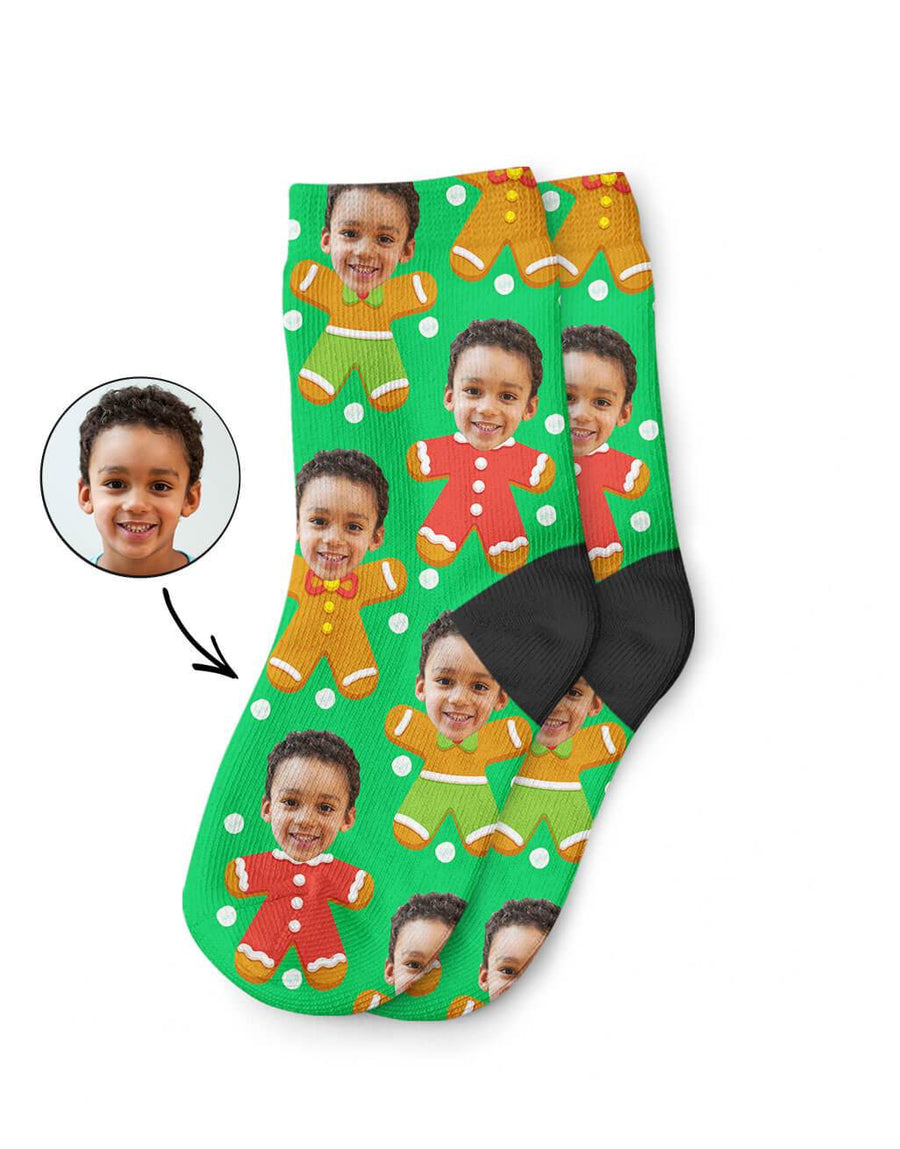 Gingerbread Me Kids Socks