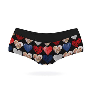 Heart Photo Collage Panties