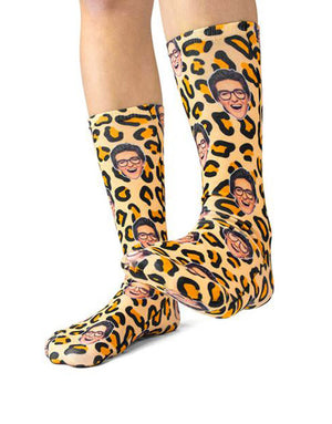 Leopard Print Face Socks