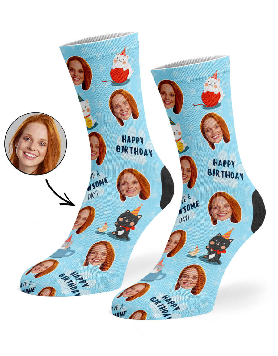 Pawsome Birthday Socks