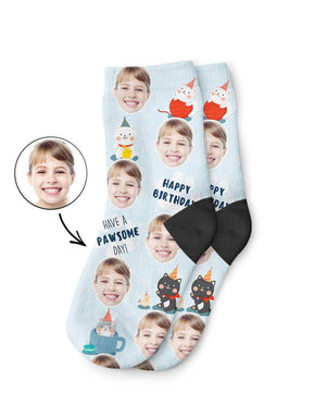 Pawsome Birthday Kids Socks