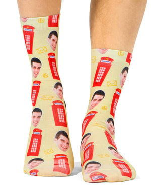 London Telephone Box Socks