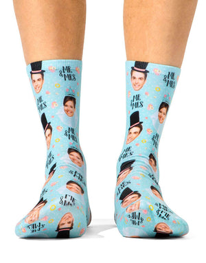 Mr & Mrs Marriage Props Socks