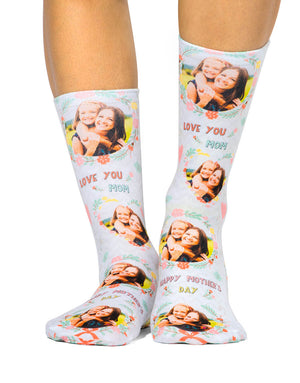 Mother's Day Photo Socks
