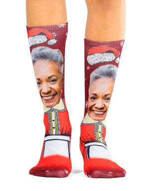 Mrs Claus Socks