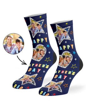 Father's Day Collage Socks