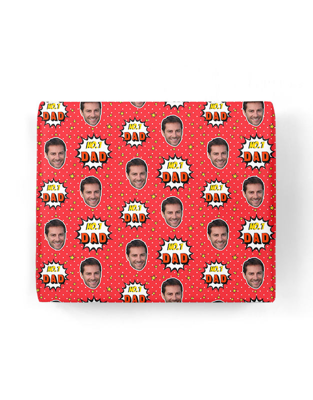 Number 1 Dad Gift Wrap