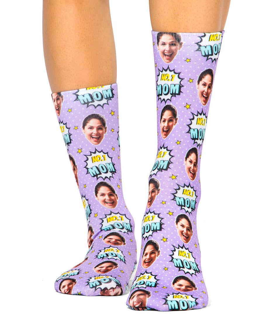 Number 1 Mom Socks