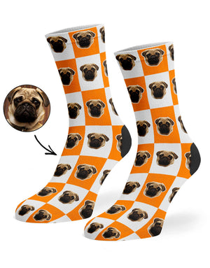 Chequered Dog Socks