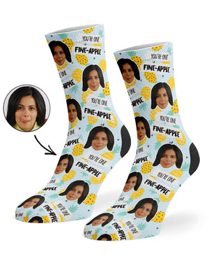 Fine-Apple Face Socks