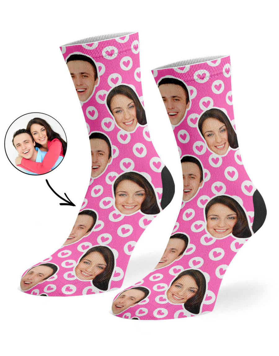 Circle Hearts Socks
