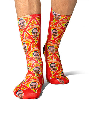 Pizza My Face Socks