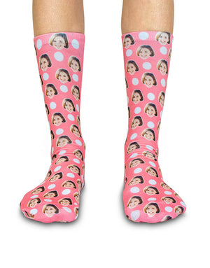Polka Face Socks