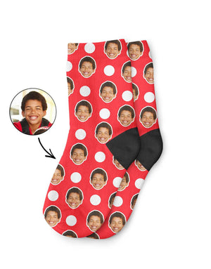 Polka Face Kids Socks