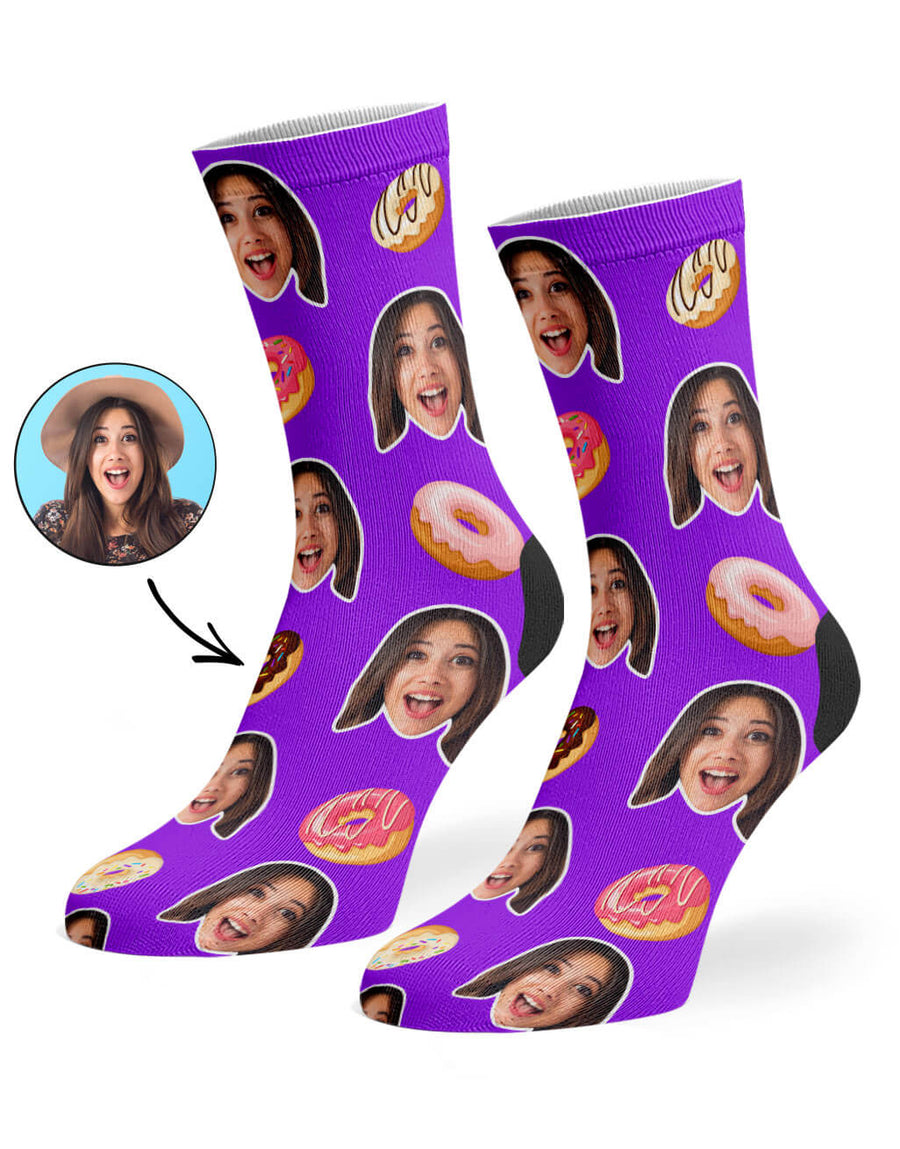 Donut Face Socks