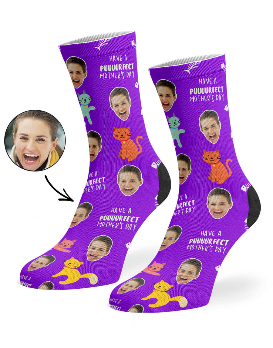 Purrfect Mother's Day Socks