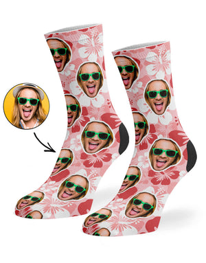 Hawaiian Face Socks