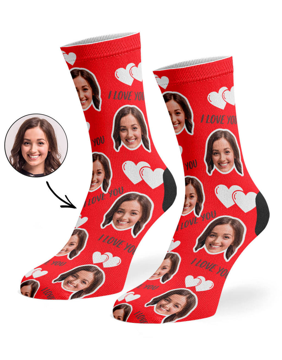 I Love You Valentines Day Socks