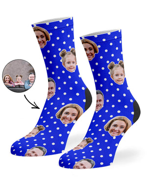 Family Polka Face Socks