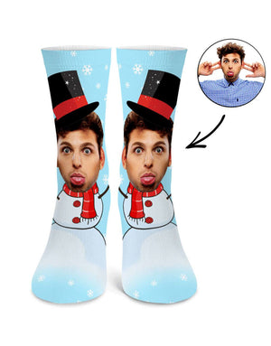Snowman Face Socks