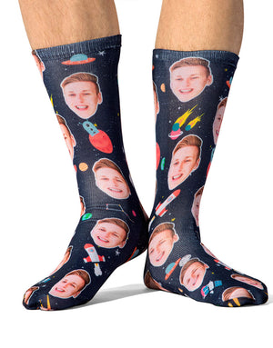 Face Space Socks