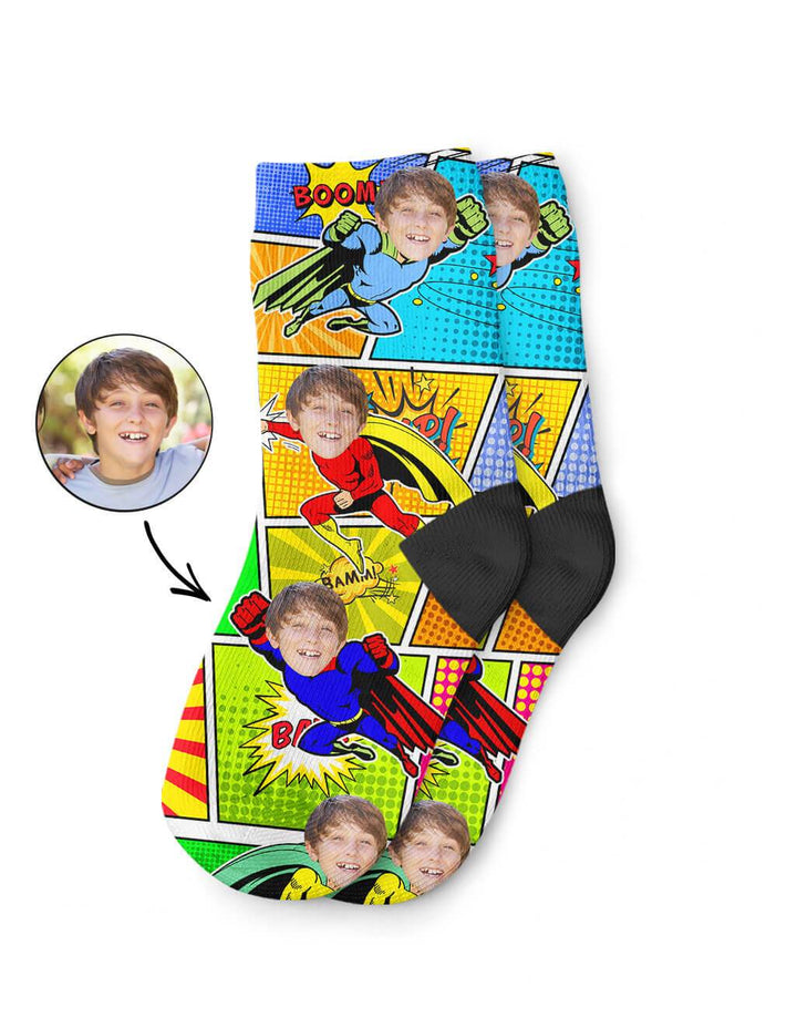 Superhero Kids Socks