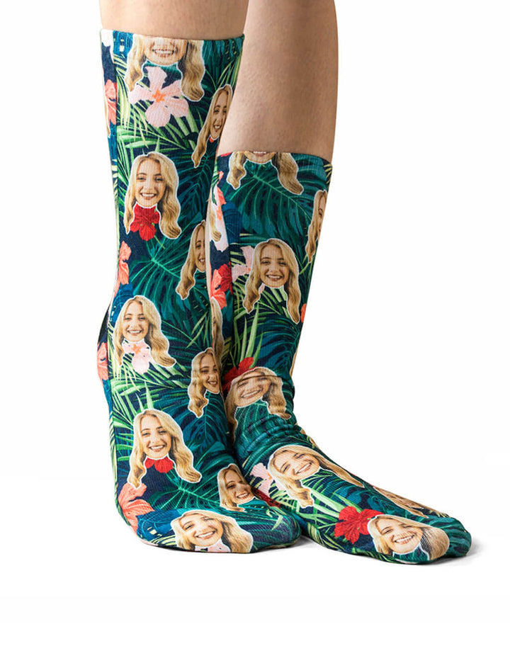 Tropical Face Socks