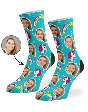 Unicorn Birthday Socks