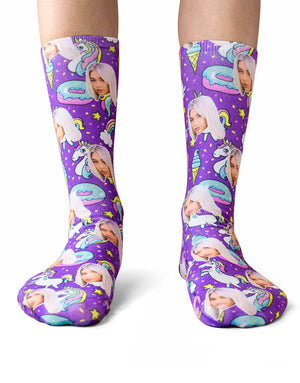 Unicorn & Donut Socks