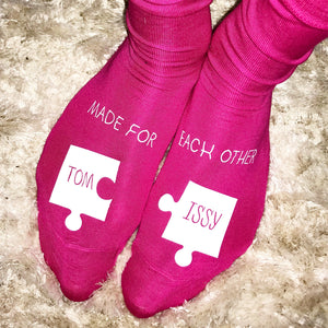 Personalized Made For Each Other Socks