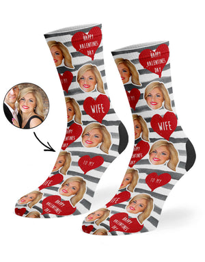 Happy Valentines Wife Socks