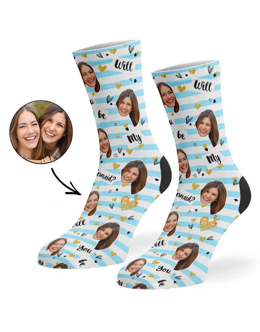 Will You Be My Bridesmaid? Striped Socks
