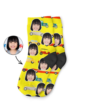 Car Face Kids Socks