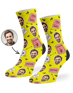 Love Stamp Face Socks