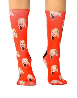 Custom Printed Face Socks