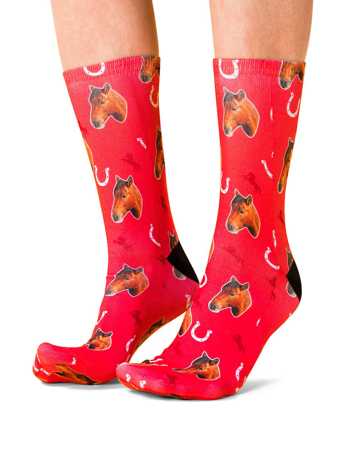 Custom Printed Horse Socks