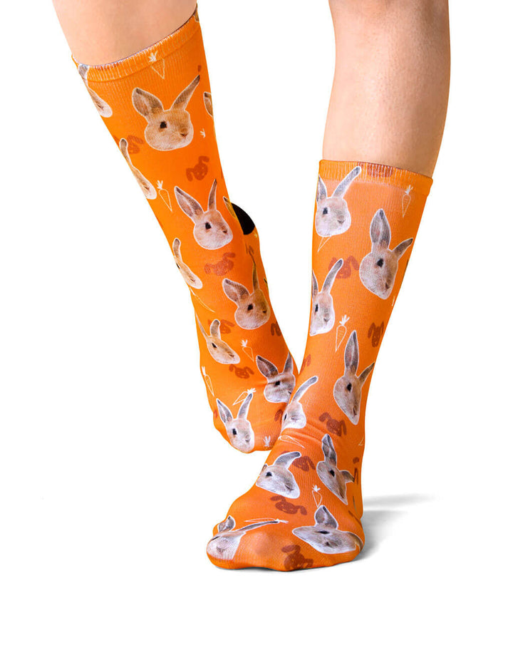 Custom Printed Rabbit Socks