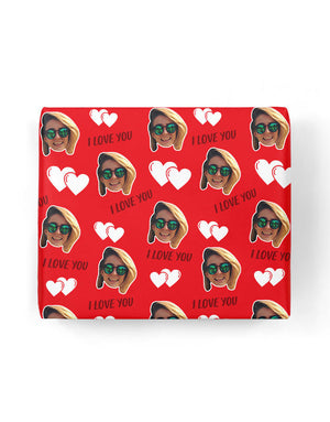 I Love You Valentines Gift Wrap