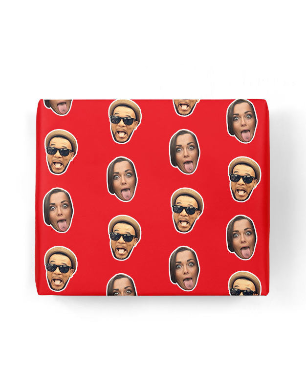 Couples Face Gift Wrap